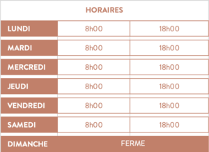 horaires Boulangerie Méchinaud