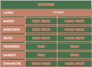 horaires épicerie Galland Terroirs