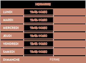Horaires du restuarant Le Boeuf Fermier