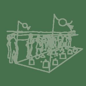 illustration pique-nique fête à la plage