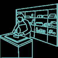 illustration de l'épicière