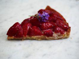 part de tarte aux fraises La Tiendita