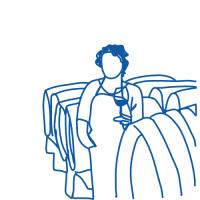 Illustration de femme vigneronne en cave